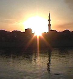 Esna - Sonnenuntergang
